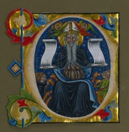 Historiated Initial (C) Excised from a Choir Book: St. Anthony Abbot and Antonite Friars