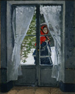 [La capeline rouge, The Red Cape, Camille Monet in the Snow]