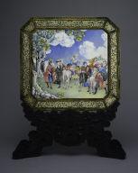 Screen with European Figures (obverse); Landscape (reverse)