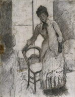 [The Visitor (recto), Drawing for 'Interior Scene']