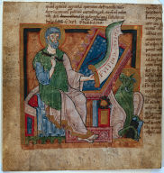 Miniature Excised from a Bible: St. Luke