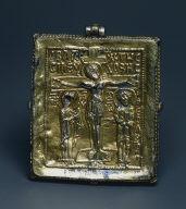[Enkolpion: Pendant with Crucifixion (obverse), Enkolpion (Relic Container) with the Crucifixion (front)]