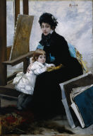 Madeleine Lerolle and Her Daughter Yvonne