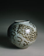 Storage Jar with Dragon and Clouds Design