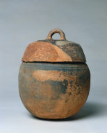 Jar with Loop Handle with Overall Impressed Surface Decoration