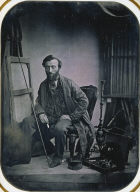 Self-Portrait in Painting Studio