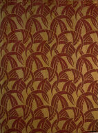 Silk Curtain Fabric Depicting Tropical Vegetation