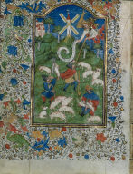 [Ten Leaves from a Book of Hours: Annunciation to the Shepherds, Annunciation to the Shepherds: Leaf from a Book of Hours]