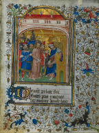 [Ten Leaves from a Book of Hours: Christ before Pilate, Christ before Pilate: Leaf from a Book of Hours]