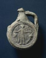 Pilgrim's Ampulla (Oil Flask) with St. Menas