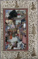 Circumcision Ceremony for Akbar's Sons; Leaf from the Chester Beatty Akbar Nama