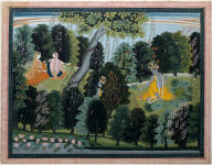 Krishna Waiting for Radha, Page from the Gita Govinda (The Song of the Herdsman) series by Jayadeva