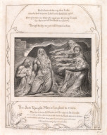 One of 21 engravings for the Book of Job