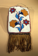 Beaded Leather Bag