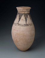 White jar with decorated neck
