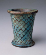 Vessel with a scale pattern