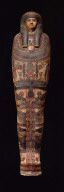 Mummy case with mummy of Tabes