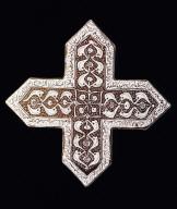 Cross Tile from the Shrine of Imamzadeh Yahyah, Veramin