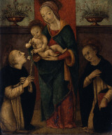 Virgin and Child with Saints Dominic and Thomas Aquinas (?)