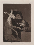 """Ni mas ni menos. (Neither more nor less); Plate 41 from the series """"Los Caprichos"""""""