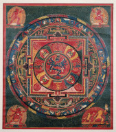 Mandala of Samvara in yabyum position with Vajrahari