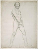 Academic Study of a Nude Man