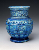 Vessel with relief decoration
