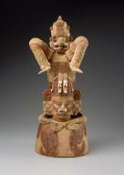Diving god effigy incense burner