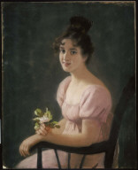 Portrait of a Smiling Girl with Mayflowers