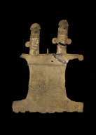 Double-headed bird effigy pendant