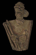 Male effigy figure holding a spearthrower
