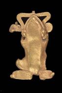 Frog effigy pendant