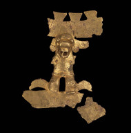 Human-alligator effigy pendant