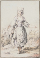 Moravian' Peasant Girl