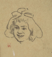 "Head Study (Study for the woodcut ""Dimanche aux fortifs; Sunday at the Fortifications"""