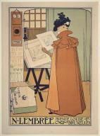 Poster for N. Lembrée, Estampes & Encadrements....Brussels