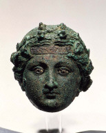 Head of a statue of Dionysos