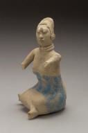 Jaina-style seated female effigy whistle