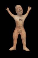Jaina-style male effigy figure whistle