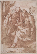 Holy Family with Saint Anne and the Young Baptist