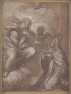 Christ Appearing to St. Teresa (Teresa kneeling at right)