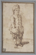 Boy Standing with One Hand in His Pocket