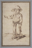A Beggar Boy Standing, Pointing with His Right Hand