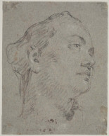 Head of a Woman Turned Upward to the Right