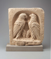 Relief with two eagles