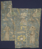 Textile fragment with soldiers and male captives