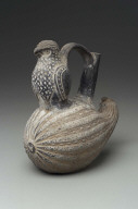 Bird and squash effigy vessel