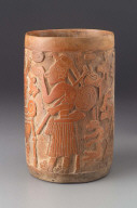 Cylinder vase with incised decoration