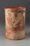 Cylinder vase with palace scene