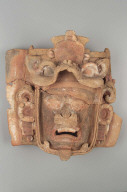 Humanoid effigy face from a K'iché cache urn